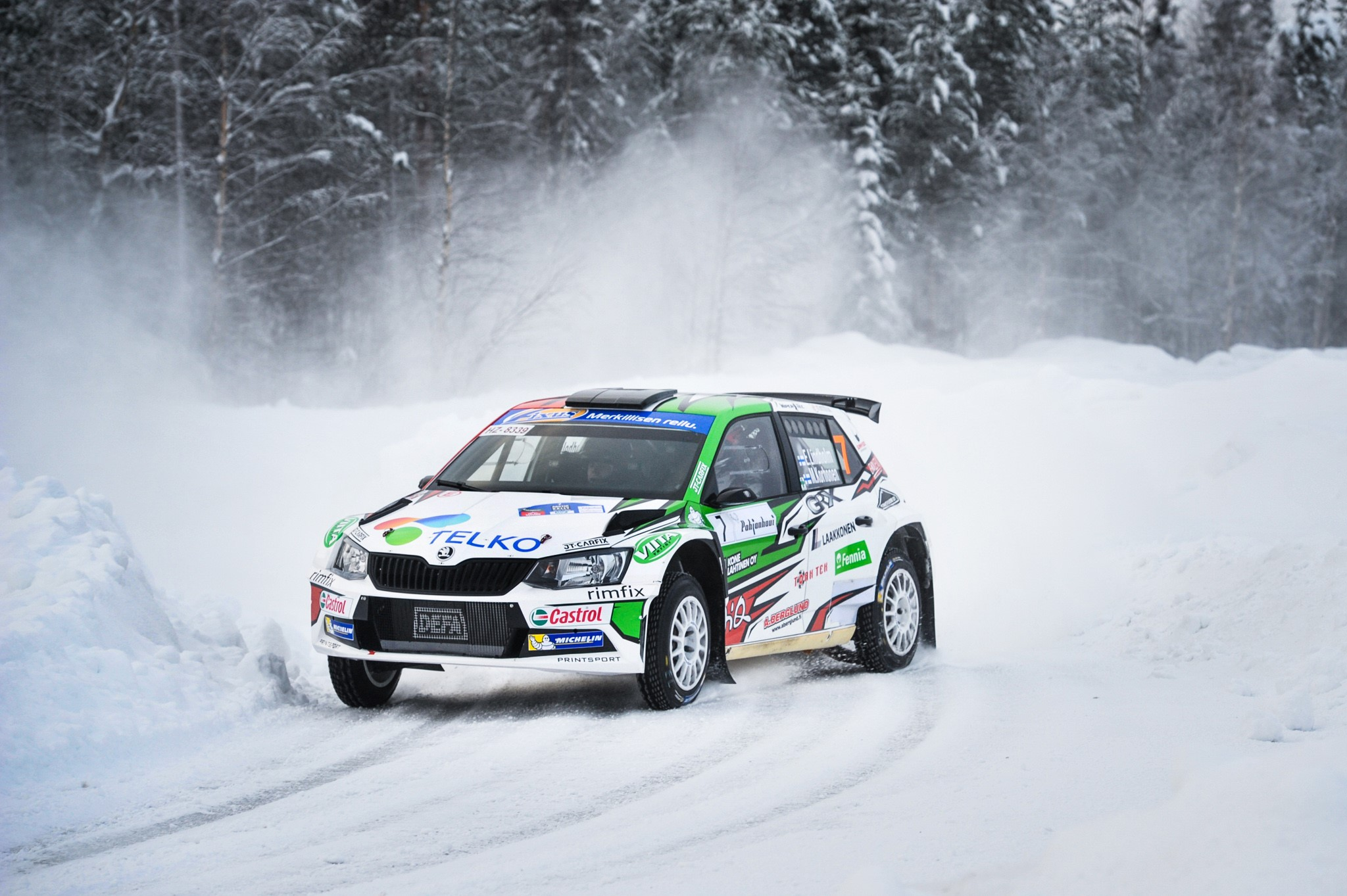 Emil Lindholm toiseksi Arctic Lapland Rally.jpg